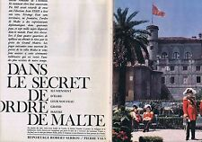 COUPURE DE PRESSE CLIPPING 1962 Le secret de l'ORDRE de MALTE  (10 pages)