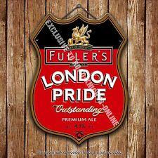 Fuller's London Pride Beer Advertising Pub Metal Pump Badge Shield Steel Sign
