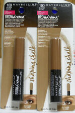 2 Maybelline Brow Drama Shaping Chalk Powder 100 Blonde (New)