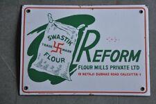 Vintage Reform Swastik Flour Ad Porcelain Enamel Sign Board