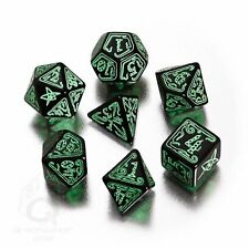 Q-Workshop Polyhedral 7-Dice Set Call of Cthulhu Black & Green