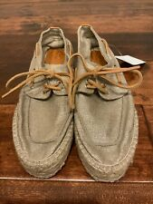 Tory Burch Gold Shimmer Espadrille Boat Shoes Loafers, Size 9