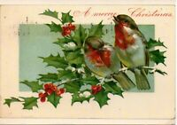 A Sunshine Card A Merry Christmas Postcard Vtg Reproduction of Antique Post Card
