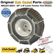 "Genuine Cub Cadet 20"" x 8"" Lawn Tractor Rear Tire Chains / 490-241-0023"