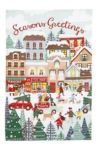 "Ulster Weavers ""Christmas Shopping"", Pure cotton printed tea towel."