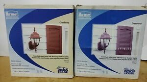 HARMONY OUTDOOR LIGHTING. CRANBERRY COLOR. WALL LIGHTS. DIE CAST ALUMINUM. (NOS)