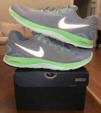 Nike Men's Lunarglide 4 524977–003 Grey Green 12.5 Electric Running React Max 1