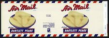 AIR MAIL Brand, Postal Letter Post Office ***AN ORIGINAL 1940's TIN CAN LABEL***
