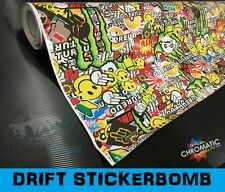 Stickerbomb Gloss Car Wrap 30 x 20cm - Bubble Free Vinyl Sticker - Drift Style
