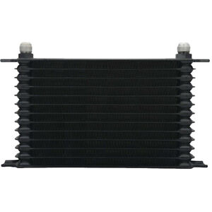 13 ROW PLATE 6AN BLACK ALUMINUM HEAVY DUTY ENGINE TRANS-MISSION OIL COOLER KIT