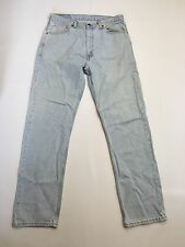 Men's Levi 521 'Straight' Jeans - W36 L34 - Faded Navy Wash - Great Condition