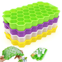 37 Cubes Home Honeycomb Shape Silicone Ice Cube Tray Mold Storage Container PL