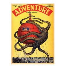"Classic Comics ""Adventure Octopus"" Fridge Magnet Metal Retro Vintage Kracken"