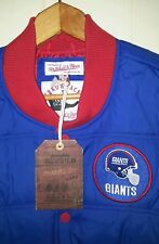 NFL NY Giants Mitchell   Ness Puffer Vest Jacket Mens Large Blue 179b30277