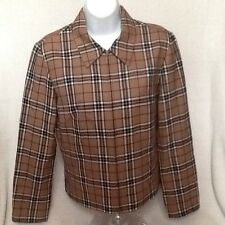Pendleton Plaid 100% Virgin Wool Jacket Size 4 Made in the USA