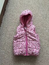 Girls Pink Floral Gillet Age 2-3 Years