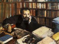 EDGAR DEGAS EDMOND DURANTY 1879 OLD MASTER ART PAINTING PRINT POSTER 711OMA