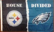 Philadelphia Eagles Pittsburgh Steelers 3'x5' House Divided Banner Flag