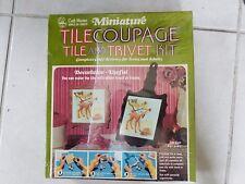 New Craft Master Mansion Decoupage Tile and Trivet Kit Tilecoupage Sealed Box