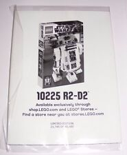 2012 LEGO Star Wars Promo Limited Edition R2-D2 Poster 21,746 of 48,480 NEW