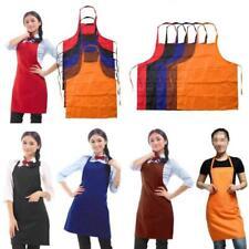 Adjustable Plain Apron With Pocket Butcher Waiter Chefs Kitchen Cooking Craft JA