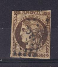 CERES BORDEAUX  N°47  30 C  brun foncé obl losange stamp scott