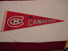 VINTAGE 1960's Montreal Canadiens 29 Inch Red Pennant, VERY COOL!!