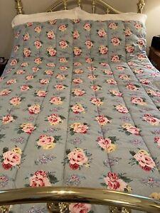 Ralph Lauren Vintage COTTAGE LANE Bed Quilt Comforter Twin EuC Rev.