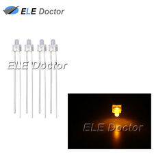 100pcs 2mm Diffused White-Yellow Light DIP Round Top LED Diodes 16000Mcd