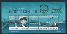 2011 Australian Antarctic Sg 212 Muh Ms gold overprint limited issue of 250