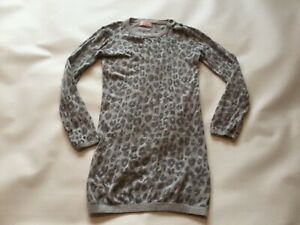 Girls Genuine Next Knit Patterned Crew Neck Jumper Top Size age 7-8 Years Animal
