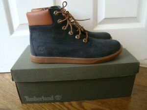 TIMBERLAND Junior Boys Suede, Rubber Sole Ankle Boots Colour: Blue Size:6 New!!!