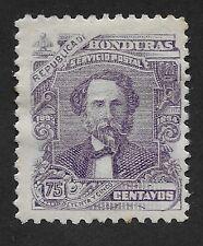 REPUBLICA DE HONDURAS 1893 STAMP GENERAL JOSE CABANAS  75c HINGED  F-VF (CX2)