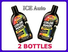 2 BOTTLES - Turtle Wax BLACK COLOR MAGIC Car Polish w/ CHIPSTIK # T374KTR 16 oz