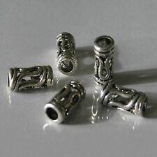 5 Perles Spacers Intercalaires Métal  TANZANIE  Arg Tib