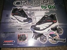 Cruisers To Go Shoe Roller Skates With Removable Chassis- size Men 6 Women 7