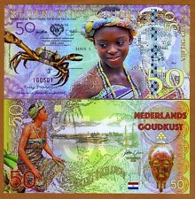 Netherlands Guinea (Ghana), 50 Gulden, 2016, Private Issue POLYMER, UNC > Crab