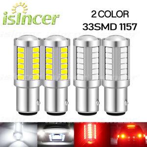 Pair 1157 P21/5W 380 BAY15D CAR STOP TAIL BRAKE LED BULBS LIGHT LAMP 33 SMD 12V