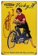 Victoria Vicky IV Reproduction Bicycle Sign 12x18