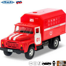 Diecast Vehicles Scale 1:34 Fire Truck ZiL 130 Soviet Russian Toy Cars