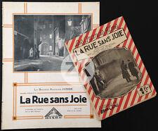 LA RUE SANS JOIE G. W. Pabst Greta GARBO Nielsen SOFAR Photoplay + DP 1925