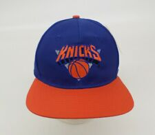 New York Knicks Hat Cap NBA Basketball AJD Snapback Adjustable Blue Orange Vtg