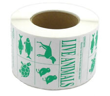 IATA Live Animal SPECIES Labels roll of 500 Stickers