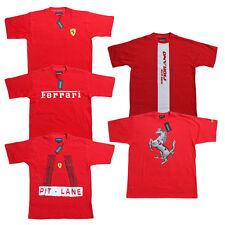 Ferrari T-shirt pour hommes Scuderia Formule 1 équipe F1 Rouge Chemise Top Coton