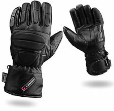 Full Padded Protection Leather Motorbike Gloves Waterproof Thermal L