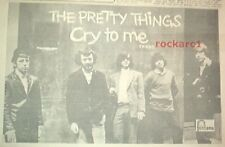 PRETTY THINGS 'Cry to Me' 1965 UK Press ADVERT 12x8 inches