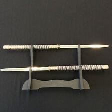 Silver Double Blade Sword/Dagger