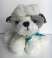 """Tyco 1993 Puppy Puppy Puppies Gray And White Dog 8"""" Plush"""