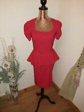Amy Childs Red Peplum Dress Size 12