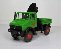 Wiking 1:87 Mercedes Benz Unimog 1650 mit Ladekran OVP 647 01 WIMO Bau
